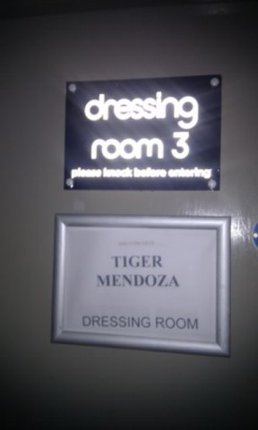 Dressing room sign