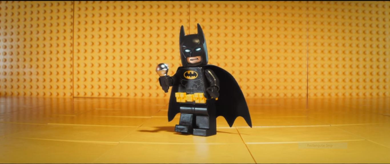Lego Batman with mic